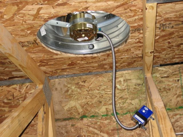 Hasty Electric Lifetime Warranty Attic Fan Installation